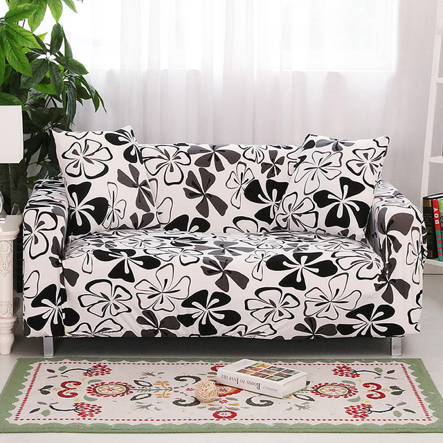 Delicieux Black And White Universal Sofa Cover Printing Couch Cover Floral Sofa Covers  Elastic Furniture Seat Slipcovers