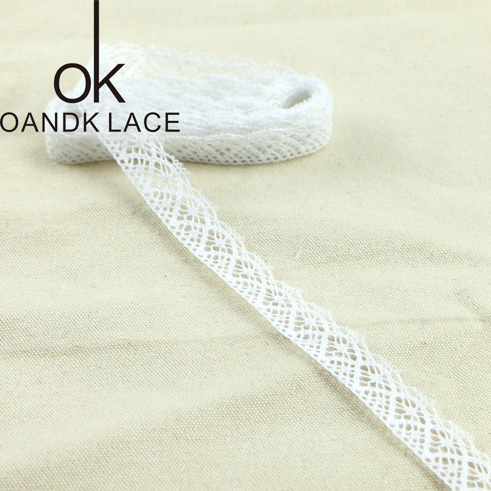 HTB1uUbgDKuSBuNjSsziq6zq8pXaj 4YARD Apparel Sewing Fabric DIY Ivory Cream Black Trim Cotton Crocheted Lace Fabric Ribbon Handmade Accessories Craft 11021