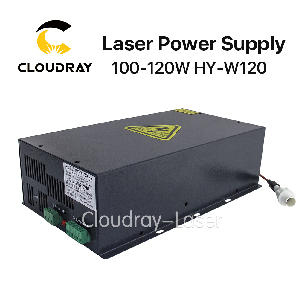 Cloudray 100-120W CO2 Laser Power Supply for CO2 Laser Engraving Cutting Machine HY-W120 cloudray leetro operation panel pad04 e co2 laser controller system for laser engraving and cutting machine