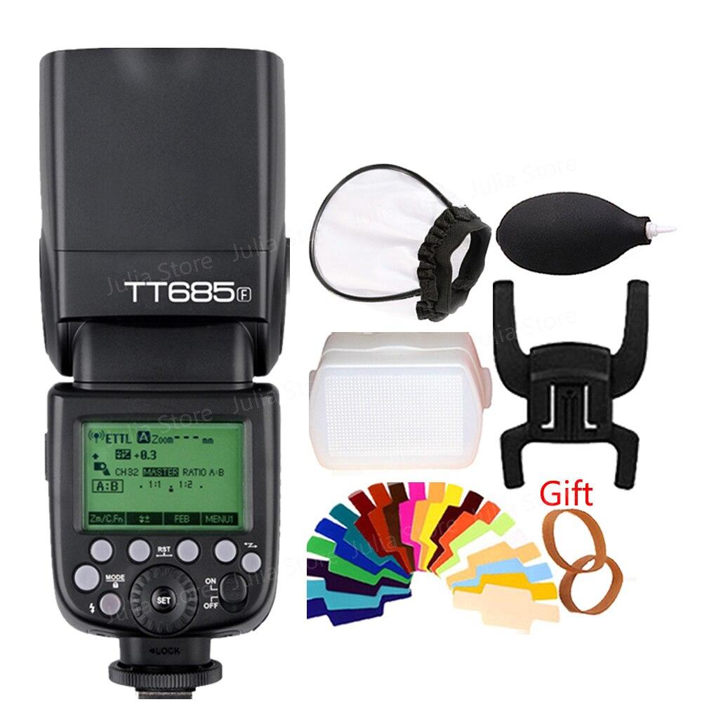 En Stock Godox Speedlite TT685F pour Fujifilm Caméra Flash TTL HSS GN60 Haute Vitesse 1/8000 S 2.4G pour Fuji X-Pro2/1 X-T20 X-T2 X-T1