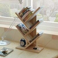Creative Bookshelf Simple Office Tree Shelf Study Bedroom Desk Small Bookshelf Bookcase Magazine Rack