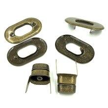 10Pcs Antique Bronze Tone Oval Purse Twist Turn Lock DIY Bag Handbag Clasps 37x21mm