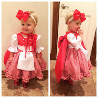 Little Red Riding Hood Halloween Costume Dress And Cape Toddler Easter Gown Baby Girl Halloween Dress