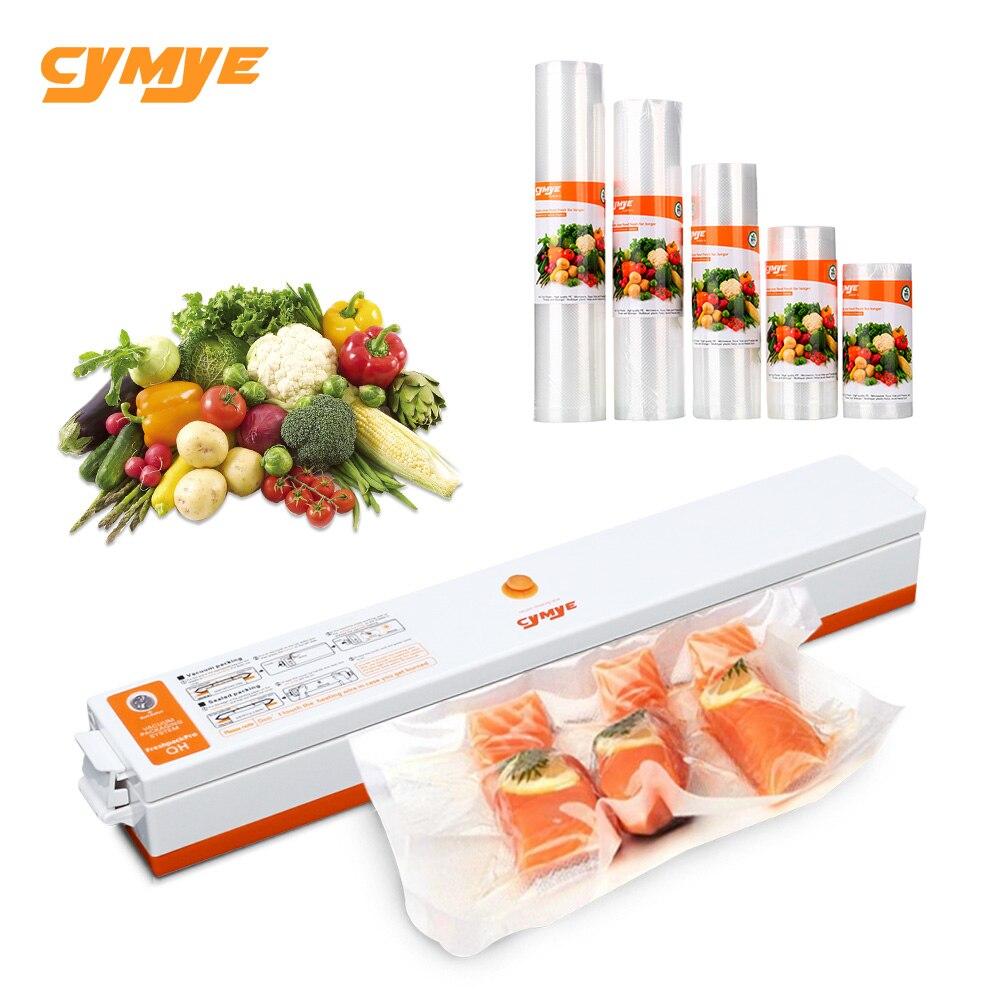 CYMYE еда saver вакуумный упаковщик машина + пластиковые рулоны