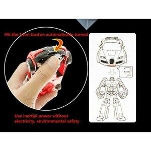 Image 3 - Robot de Transformation jouet voiture Anime figurine jouets ABS en plastique Collision transformant le modèle cadeau pour les enfants