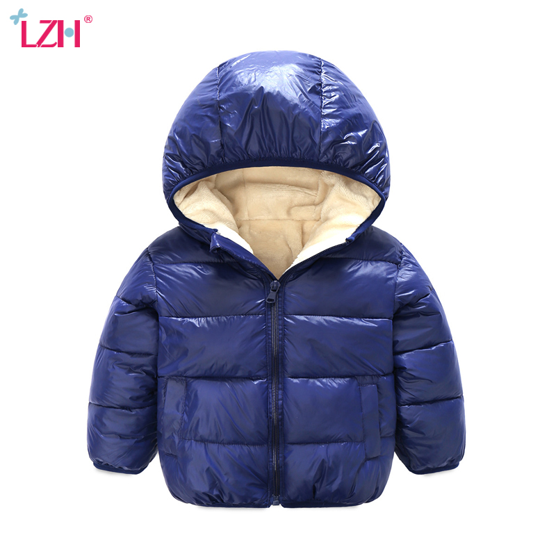 LZH Baby Boys Jacket For Boys Coat 2017 Autumn Winter Girls Jackets Kids Warm Hooded Outerwear
