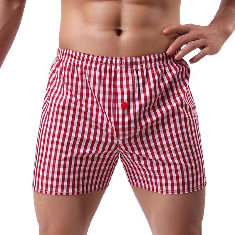 MJARTORIA Mens Plaid Printing Short Pajamas Pants Breathable Sleepwear Summer Beach Surf Casual Loose Comfortable Soft Shorts