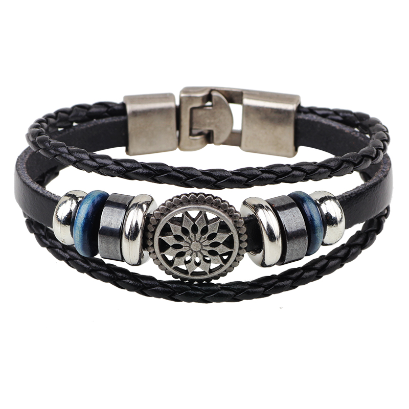 for name men pin personalized leather man bracelet engraved mens