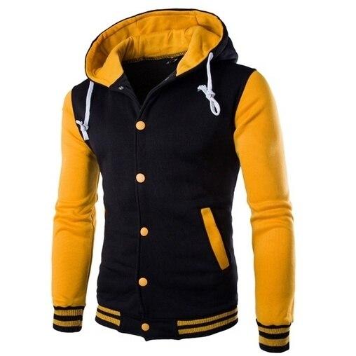 Zogaa Men Cotton Jacket Coat Plus Size Casual Baseball Coat Winter Male Hooded Outwear Slim Man Black Jackets Hombre Veste Homme