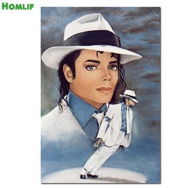Michael Jackson 5D Diamond Painting Cross Stitch Full round Drill Arts Embroidery Portrait Rhinestones