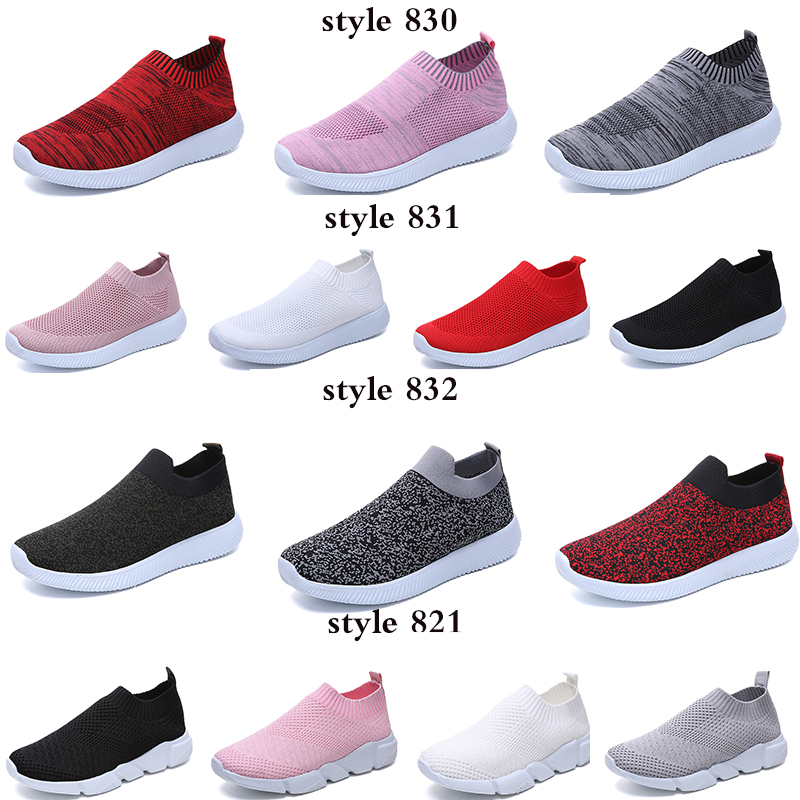 HTB1uUcTacnrK1RjSspkq6yuvXXa7 Rimocy plus size breathable air mesh sneakers women 2019 spring summer slip on platform knitting flats soft walking shoes woman