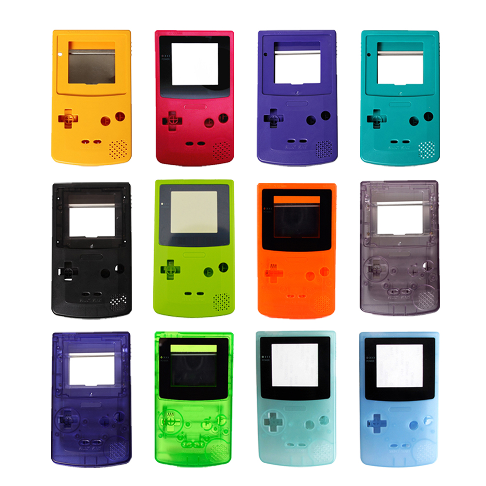 100 sets a lot High quality 13 Colors Housing Shell replacement Parts Cover for G B C Case Pack for Gameboy Color ShellCases   -