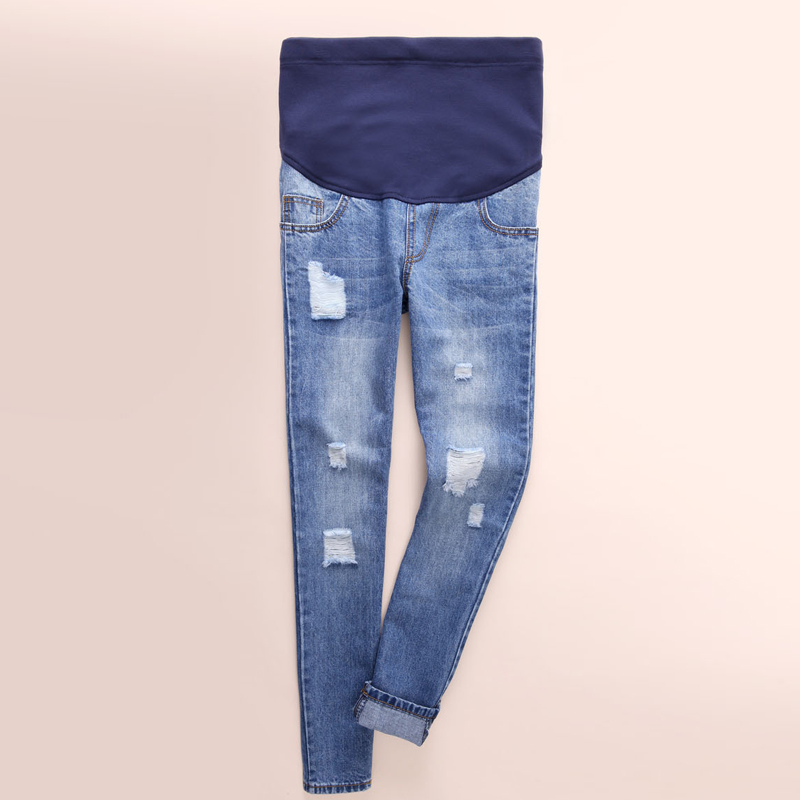 c25f58b65 Maternity Jeans Pants Loose Pregnant Women Clothes Trousers Nursing Prop  Belly Legging Pregnancy Clothing Overalls Ninth
