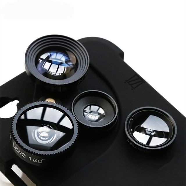 4 in 1 Phone Lens Case For Iphone Models
