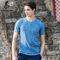 Pioneer Camp 2017 fashion short-sleeved T-shirt a button splash-ink t-shirt men bamboo cotton personalized T-shirts 677054