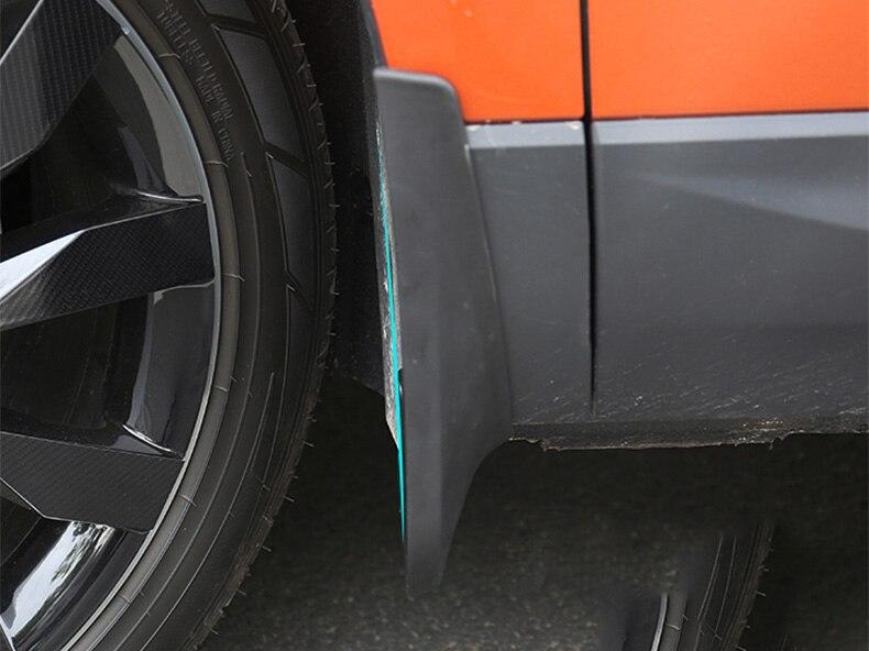Splash Guard Car >> Car Mudflaps Splash Guards Front Rear Mudguards Fender Accessories Car Styling 4pcs Set For Skoda Karoq 2017 2018 2019