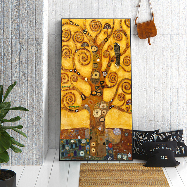 06339ab8b10 Gustav Klimt Tree Of Life Canvas Art Paitnings Classical Famous Painting  Reproductions Gustav Klimt Wall Picture For Living Room