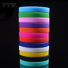 Bracelet Bangle Wristband Silicone-Rubber Flexible Kids Trendy Unisex for Boys Girls