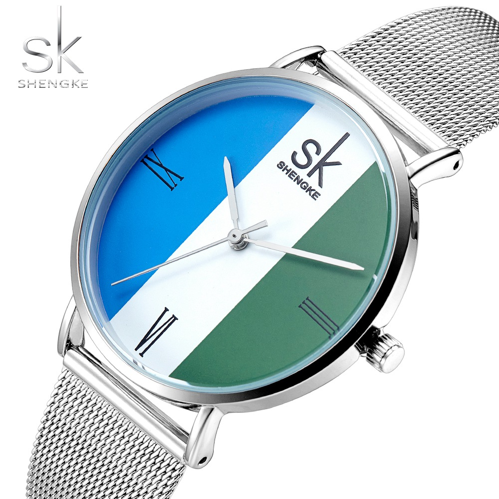 SK New Fashion Brand Women silver Wrist Watches MILAN Street Snap Luxury Female Jewelry Quartz Clock Ladies Wristwatch 2018