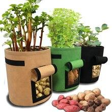 มะเขือเทศมันฝรั่ง Grow กระเป๋าจับดอกไม้ผัก Planter กระเป๋าปลูกบ้านสวนอุปกรณ์เสริมปลูกกล่องถังหม้อ