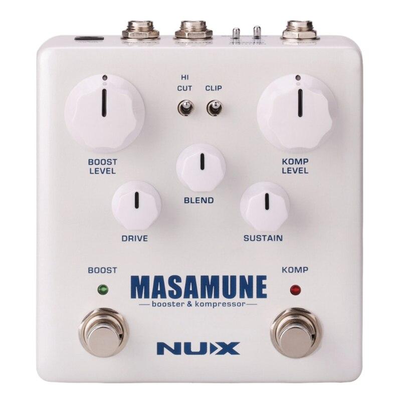Nux guitare analogique compresseur et Booster pédale