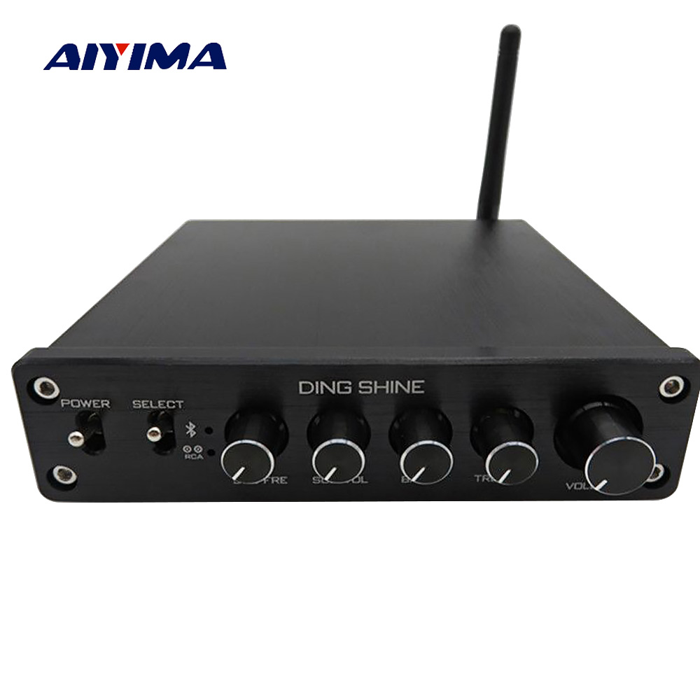 Aiyima TPA3116 Subwoofer Bluetooth Amplifier HiFi TPA3116D2 2.1 Channel Digital Audio Amplifiers 50W*2+100W DC12-24V lusya tpa3116 2 1 channel high power bluetooth digital audio amplifier board tf card usb subwoofer speaker amplifiers 2 50w 100w