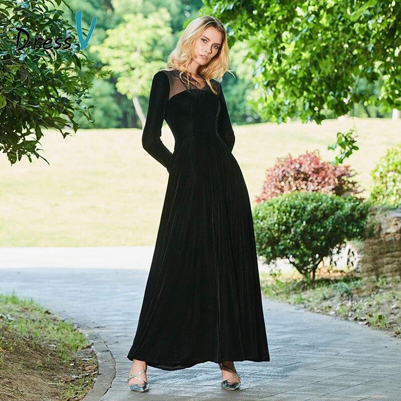 Aliexpresscom  Buy Dressv New Black Custom Evening Dress -3715