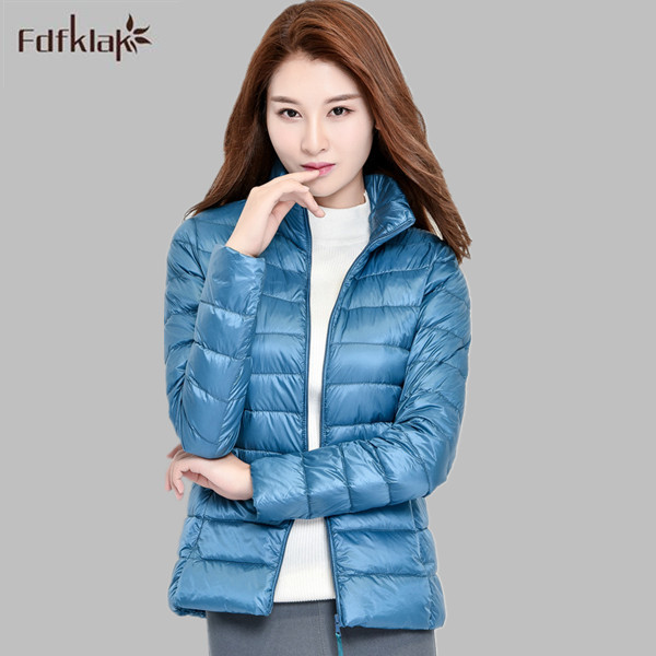 90% White duck down coat 2016 new fashion winter jacket women brand slim short women's down jackets and coats parkas A299