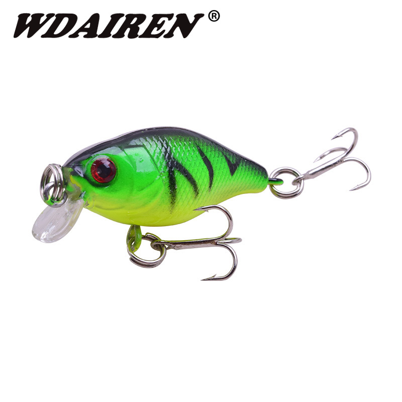 1Pcs Mini Crankbait Fishing Lure Topwater Wobblers Artificial Japan Hard Bait Swimbait Minnow Trout Bass Carp Fishing Tackle