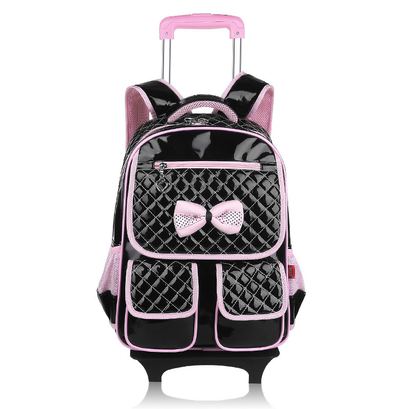 girls school backpack with wheels kids travel trolley bag pink wheeled bag pu leather children school bags for teenagers backbag 2017 boys trolley children school bags classic travel bag on wheels kids rolling orthopedic schoolbag backpack girl book bags sa