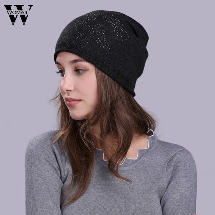 1 Pcs Winter Warme Beanie Hüte Für Frauen Dame Gestrickte Schnee Ski Cap Gorro Großhandel Drop Verschiffen