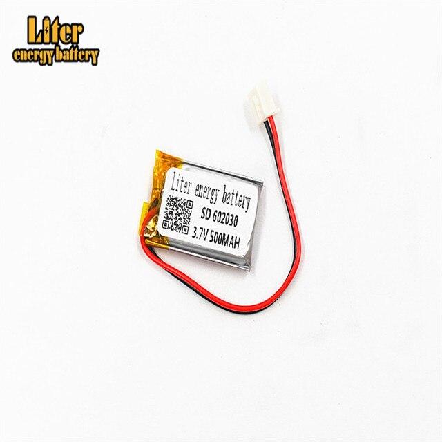 XHR-2P 2,54 500 мАч 602030 3,7 в литий-полимерный аккумулятор, Bluetooth MP3 беспроводная карта аудио рекордер