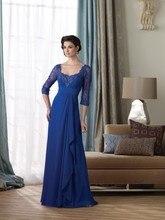 A-linie/Prinzessin Scoop Bodenlangen Chiffon Mutter der Braut Kleid/Abendkleid Mit Falten