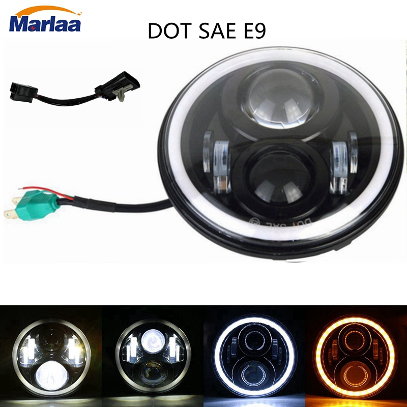 Home Responsible Motorcycle Accessories 7 Inch Motor Led Headlight With 7 Mounting Ring For Harley Davidson Tour Tri Glide Electra Glide Latest Fashion