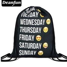 Deanfun 2016 new fashion backpack 3D printing travel softback man women harajuku drawstring bag mens backpacks