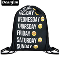 Deanfun 2016 nueva moda mochila impresión 3D softback hombre mujeres harajuku bolso de lazo para hombre mochilas de viaje