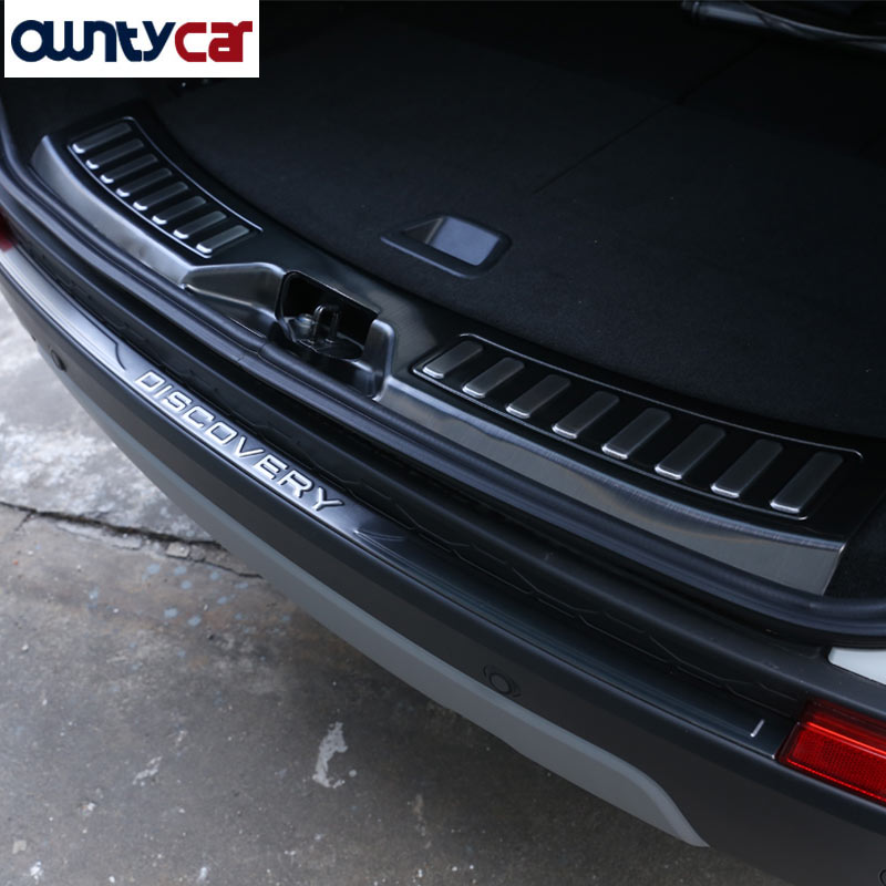 For Land Rover Discovery Sport 2015 2016 Car Styling Accessories Stainless Steel Rear Bumper Protector Trim Sill Scuff Plate 2pcs abs car interior accessories center control side strip cover trim for land rover lr4 discovery 4 2013 2016 car styling