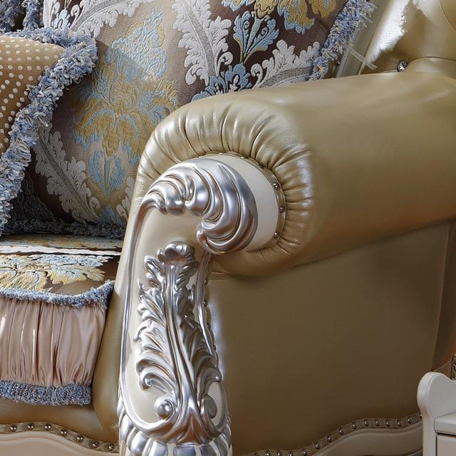 1+2+3 Modern Design Sectional Soft Genuine Leather Sofa Set Living Room Furniture 3