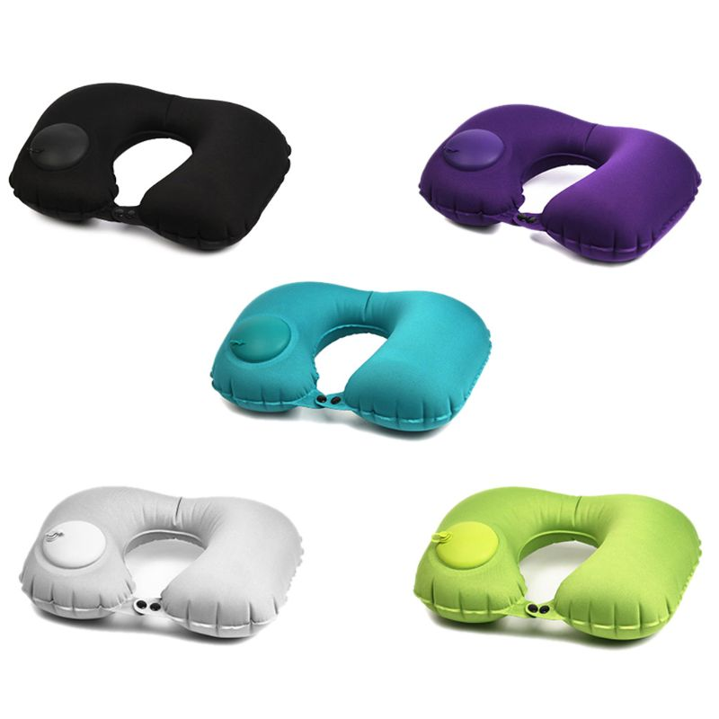 Inflatable Pillow U Shape Camping Travel Soft Neck Pillow Sleep Head Cushion Neck Pillow Travel Accessories