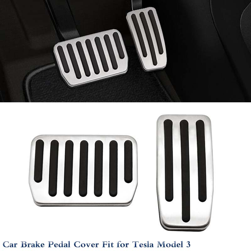 Car Interior Rest Pedals Fuel Gas Brake Pedal Cover For Tesla Model 3 Accessories Car Styling