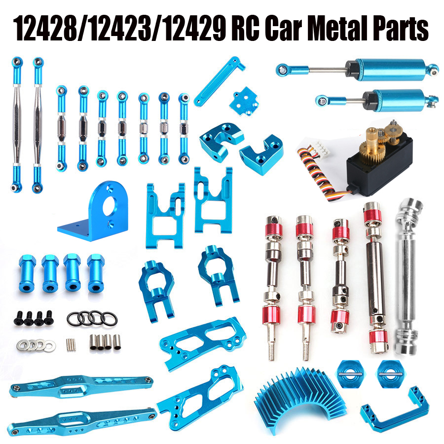 Wltoys 12428 12423 12429 RC Car Spare Parts Upgrade Metal Classis/rear Axle/arm/wavefront Box/gear Etc. 12428 Parts Accessories