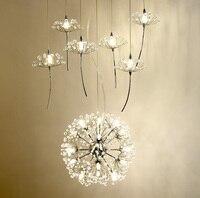 Европа хрустальная люстра Одуванчик Костюмы магазин ресторан гостиная G4 светодиодный освещения Лестницы Droplight Американский цветок лампы