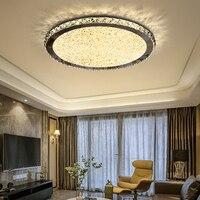 새로운 라운드 크리스탈 샹들리에 조명 홈 조명 ledlamp 거실 침실 plafonnier 라운드 led 샹들리에 lampadari 비품