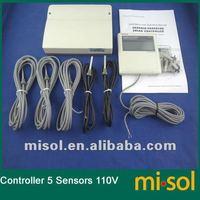 CONTROLLER of SOLAR WATER HEATER, 5 sensor, 110V, for seperate solar system