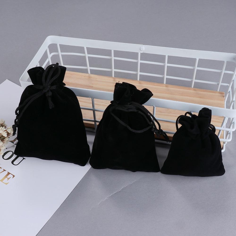 Wedding Favor Jewelry Packaging Jute Gift Bag Drawstring Pouch Velvet Bags