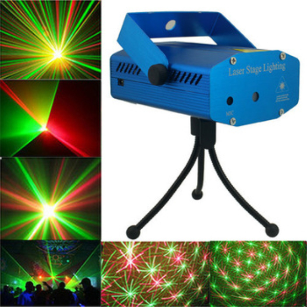 LED Laser Light 150MW Mini Red Green Moving Party Laser Stage Light DJ party light Twinkle 110-240V 50-60Hz US/EU/AU Plug