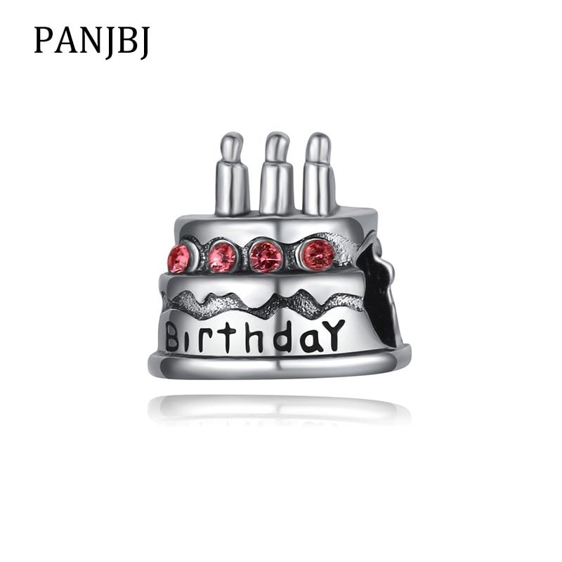 Fine New Original Bead Alloy Birthday Cake Charm Pink Cz Fit Pandora Birthday Cards Printable Opercafe Filternl