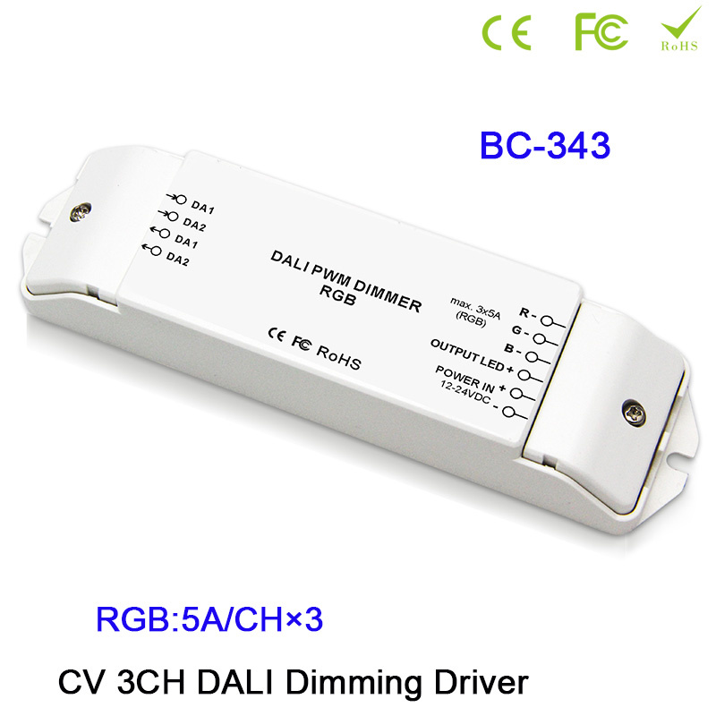BC 341/BC 343/BC 344 CV DALI Led Dimmer Controller DC12 24V 1CH/3CH/4CH Dimming/RGB/RGBW Driver Controller for led strip tape
