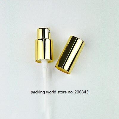18 мм золото/черный/серебро алюминиевый пресс-насос для лосьона мелкий распылитель тумана 5 мл/10 мл/15 мл/20 мл/30 мл/50 мл/100 мл для бутылки эфирного масла - Цвет: gold mist sprayer