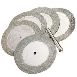 Image 2 - 로타리 공구 유리 금속을위한 5pcs 50mm 다이아몬드 커팅 디스크 및 드릴 비트